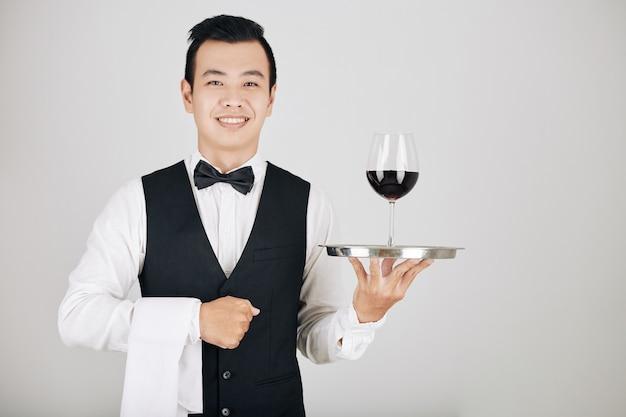 Waiter serving order