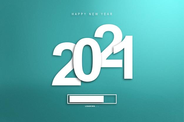 2021 년을 기다립니다. 새해 복 많이 받으세요 2021