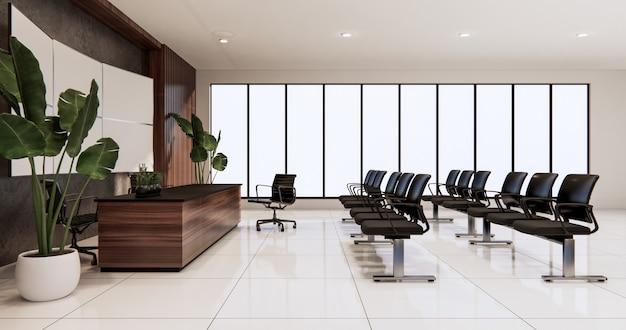 사무실 디자인에 대기실 인테리어 3d 렌더링