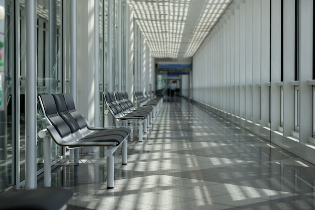 Waiting room for traveler area in the airport