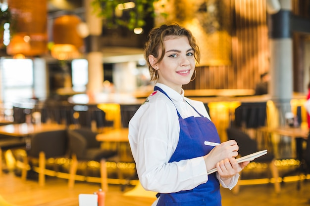Waitress in restaurant