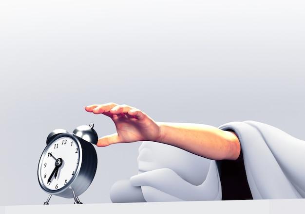 Wake up time. 3d illustration