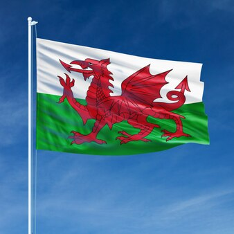 Wales flag flying