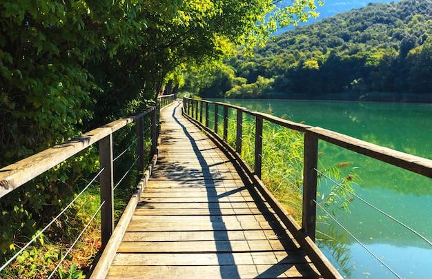 Walk path near lake toblino