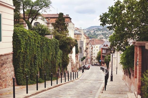 Прогуляйтесь по улицам будапешта в венгрии, исторической ce