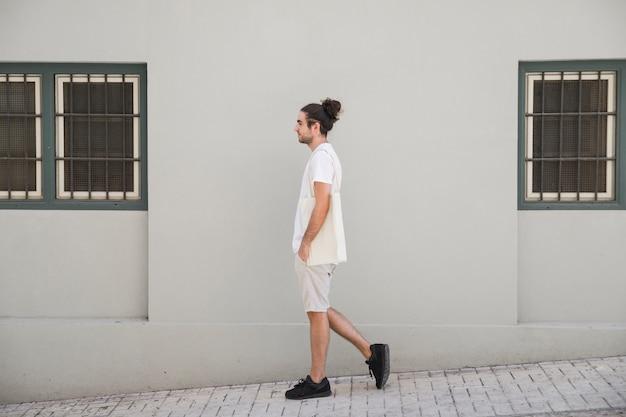 Walking by the sidewalk