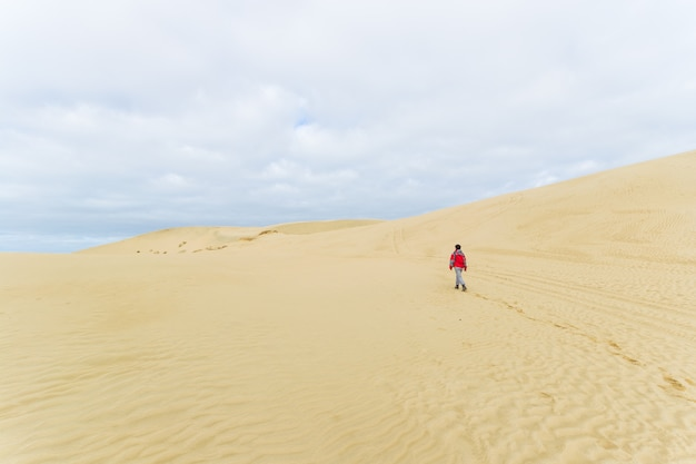 Walking on the sand dunes