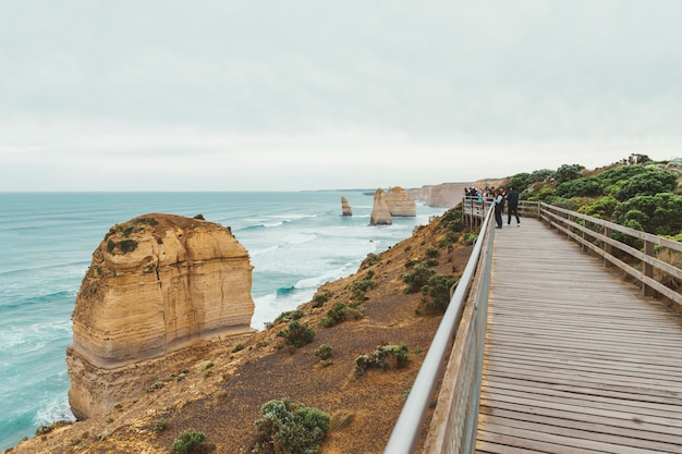 The walkway in twelve apostles, australia.