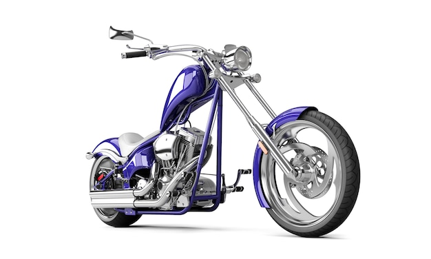 Байкерский мотоцикл на белой стене