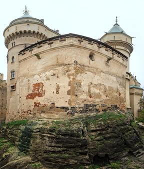 Wall of bojnice castle (slovakia). summer. built in the 12th century, rebuilt in 1889-1910.