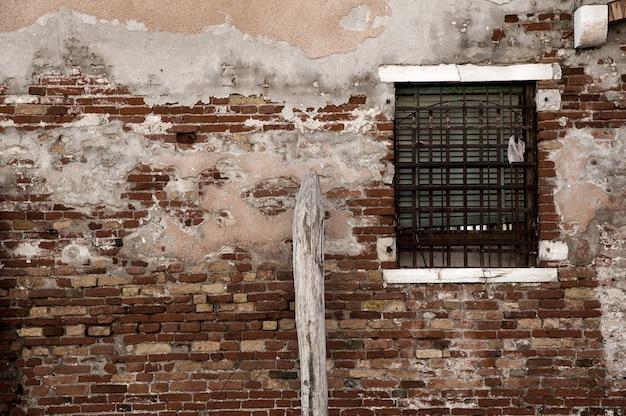 Wall of brick and window