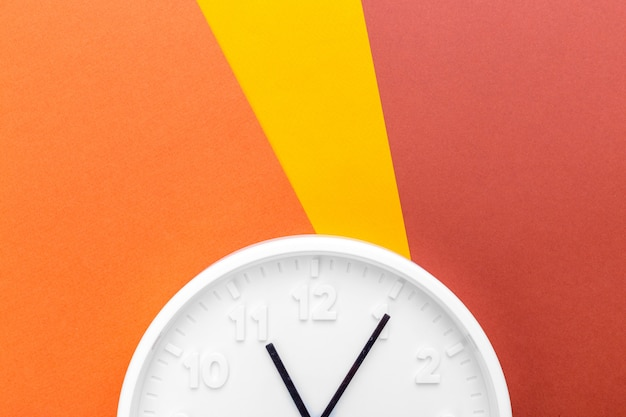 Wall clock on color