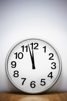 Wall clock on the table