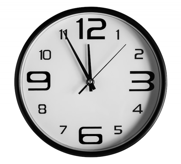 Wall clock on white