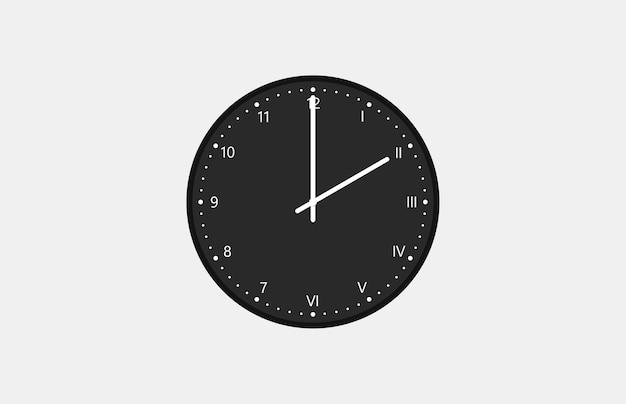 半分にアラビア数字とローマ数字の文字盤が付いた掛け時計