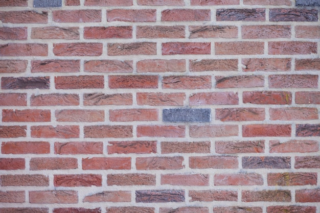 Wall of colored bricks texture