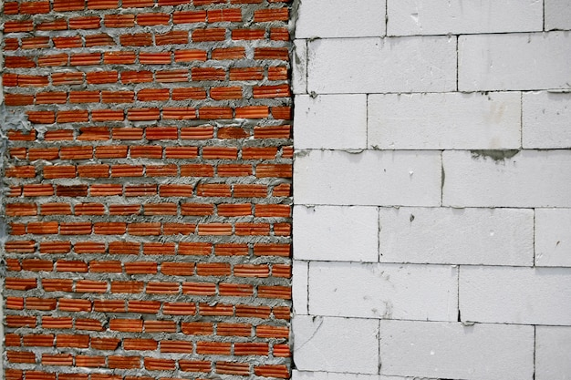 Wall construction bricks texture background