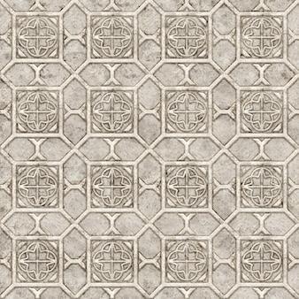 Настенный декор. каменная плитка с рельефным рисунком. элемент дизайна. фоновая текстура