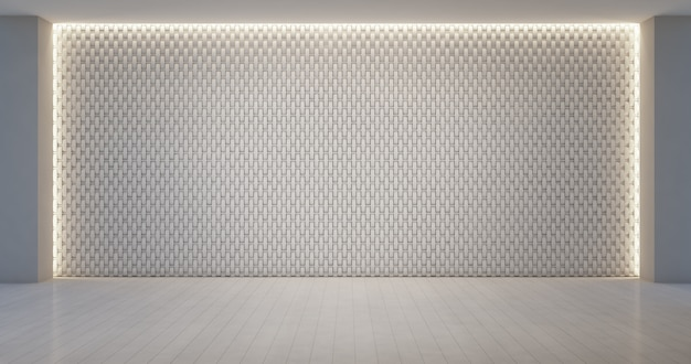 Wall decoration pattern in empty white room.