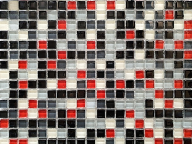 The wall or the floor are decorated with colorful of tiles.
