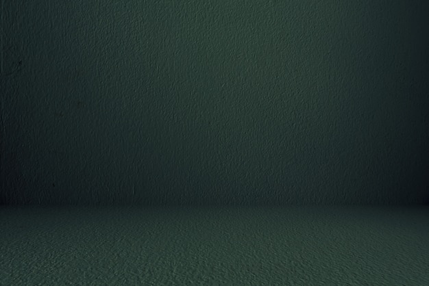 Wall and floor concrete, dark green, room, interior, for display products