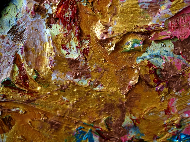 Wall gold colorful background and textured.