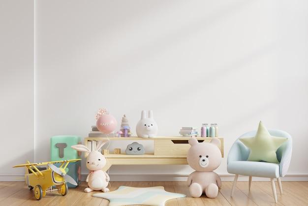 어린이 방, 3d 렌더링 벽