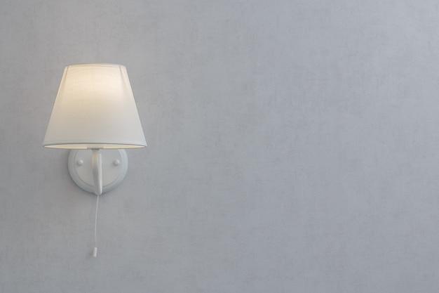 Настенный светильник с белым абажуром из холста