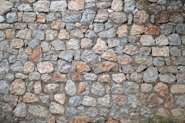 Wall of a large stone, a texture of a stone wall