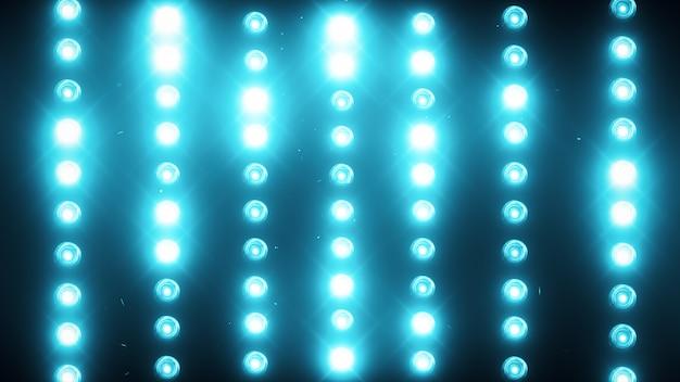 A wall of light projectors