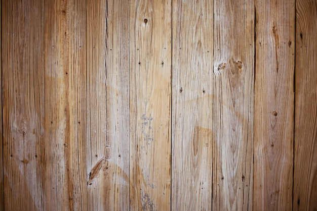 Wall made of vertical brown wooden planks