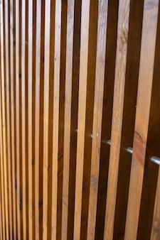 Wall made of wooden slats, natural materials for renovation