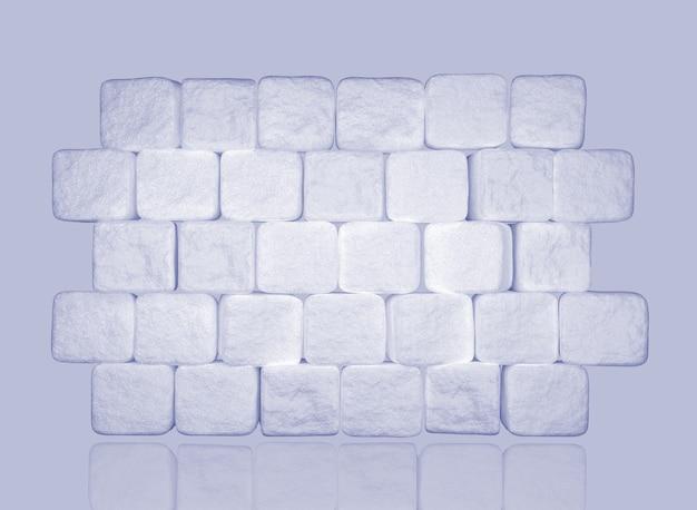 角砂糖の壁。 3dイラスト