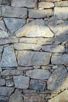 Wall of stones texture close-up