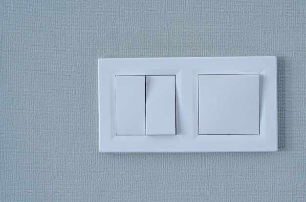 Wall switch on a clean background