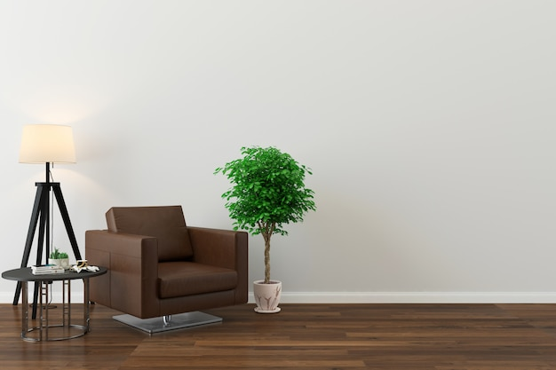 벽 질감 배경 나무 바닥 갈색 소파