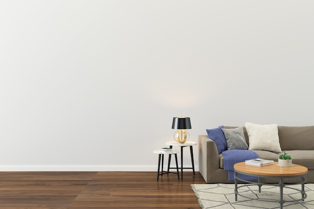 Wall texture background wood floor light brown sofa