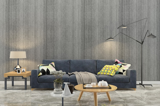 Wall texture background wood marble floor sofa chair lamp