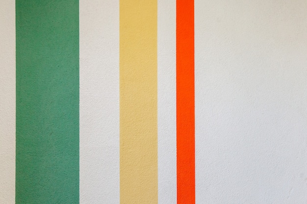Wall texture with vertical lines green, red, yellow