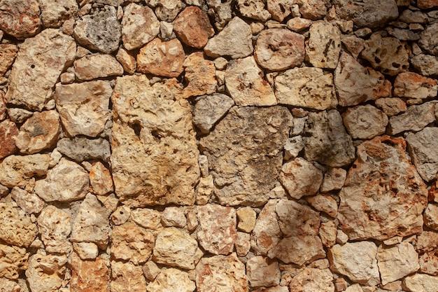 Текстуры стен с крупными камнями, сложенными вместе, чтобы создать прочную и прочную стену.