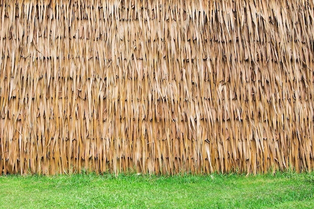 Wall of thai farmer cottage in countryside.