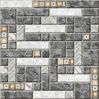 대리석 패턴으로 벽 타일. 돌 모자이크. 벽 디자인 요소. 바탕 화면 배경 질감