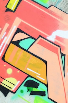 Wall with abstract pink graffiti