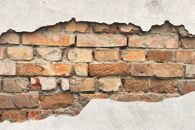 Wall with bricks background. old wall texture.