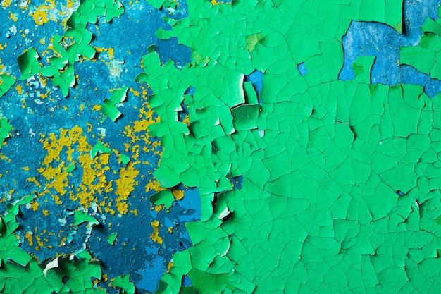 緑のペンキで壁。デザインの背景。グランジテクスチャ。高品質の写真