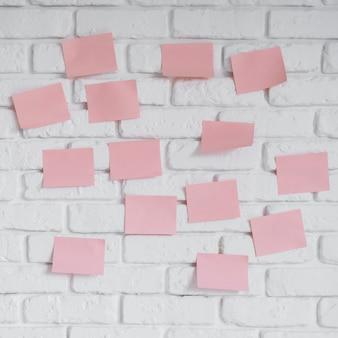 Wall with sticky notes