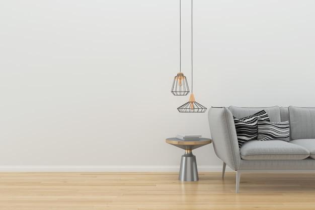 Стены деревянный пол интерьер диван стул лампа интерьер 3d гостиная