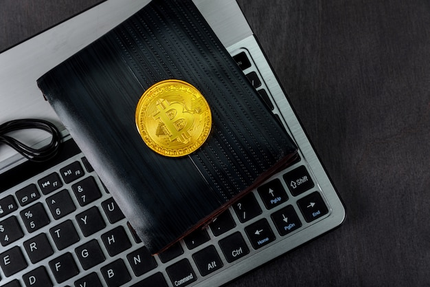 Wallet over keyboard bitcoin out of crypto currency.