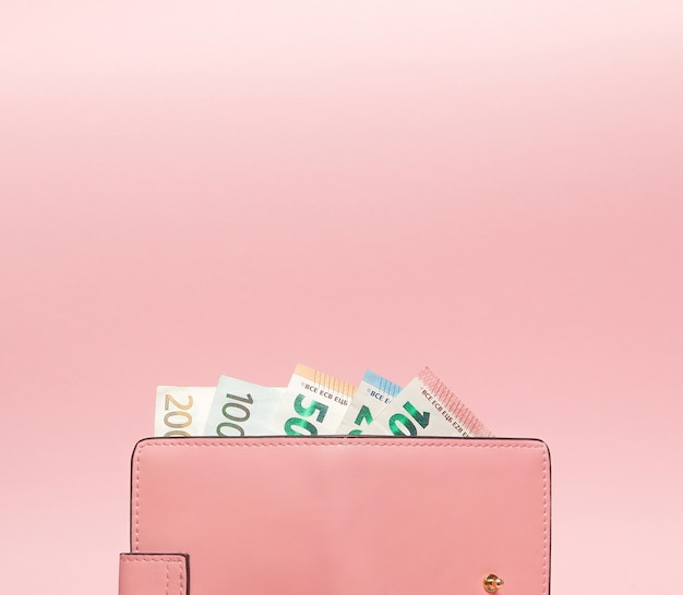 Wallet with euro currency