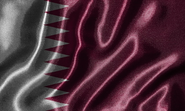 Wallpaper by qatar flag and waving flag by fabric
